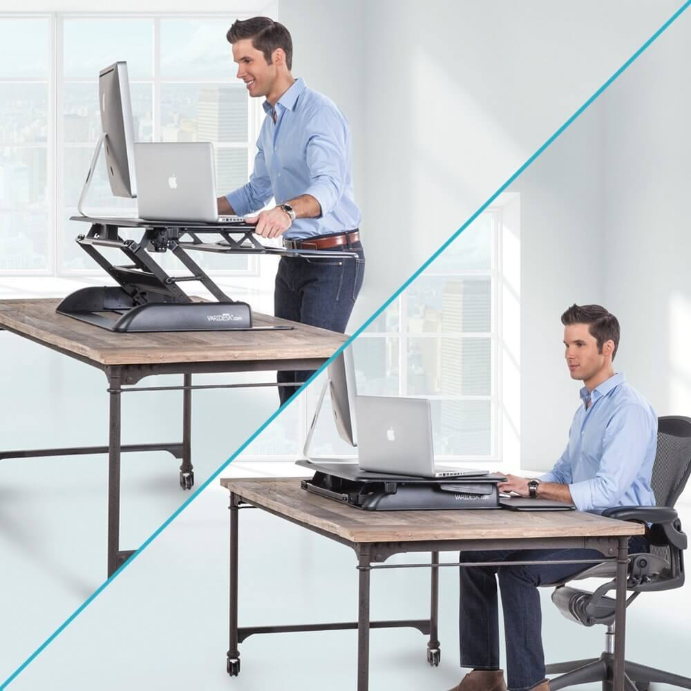 Standing desk converter for laptop workez sit stand for Standing desk at home